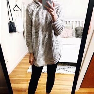 express circle hem sweater